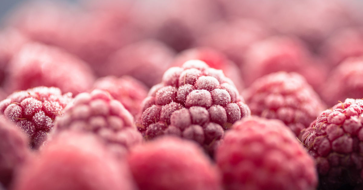 Frozen Food Month Raspberries