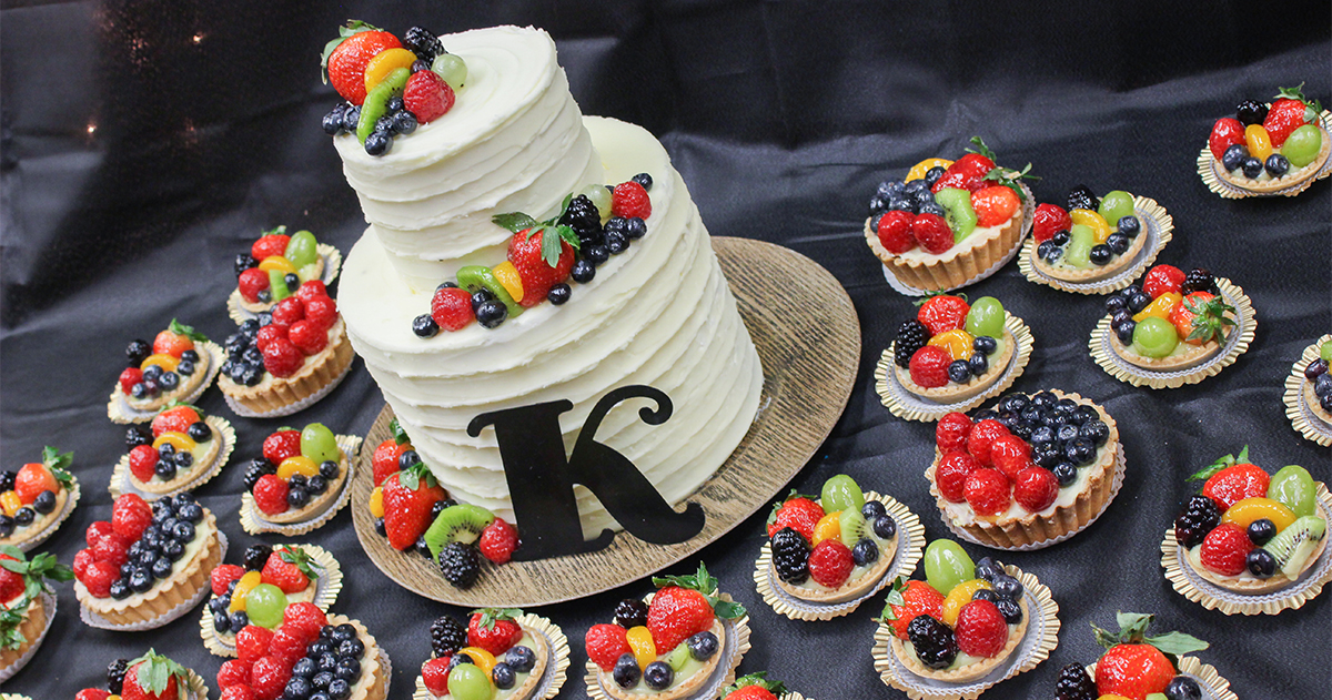 Have your wedding cake made in our bakery.