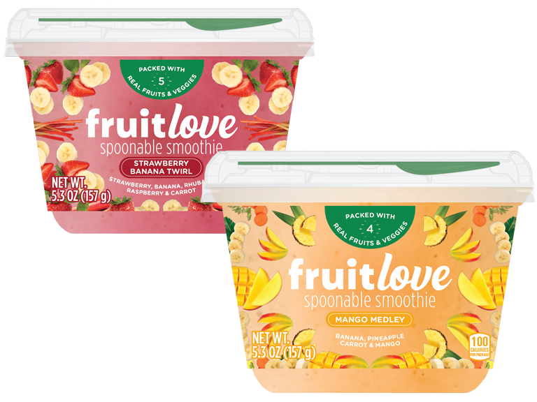 Fruitlove Spoonable Smoothie packages