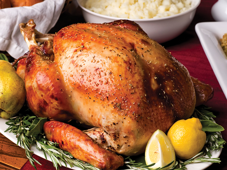 Order a freshly prepared Traditional Turkey Dinner, just heat and serve!