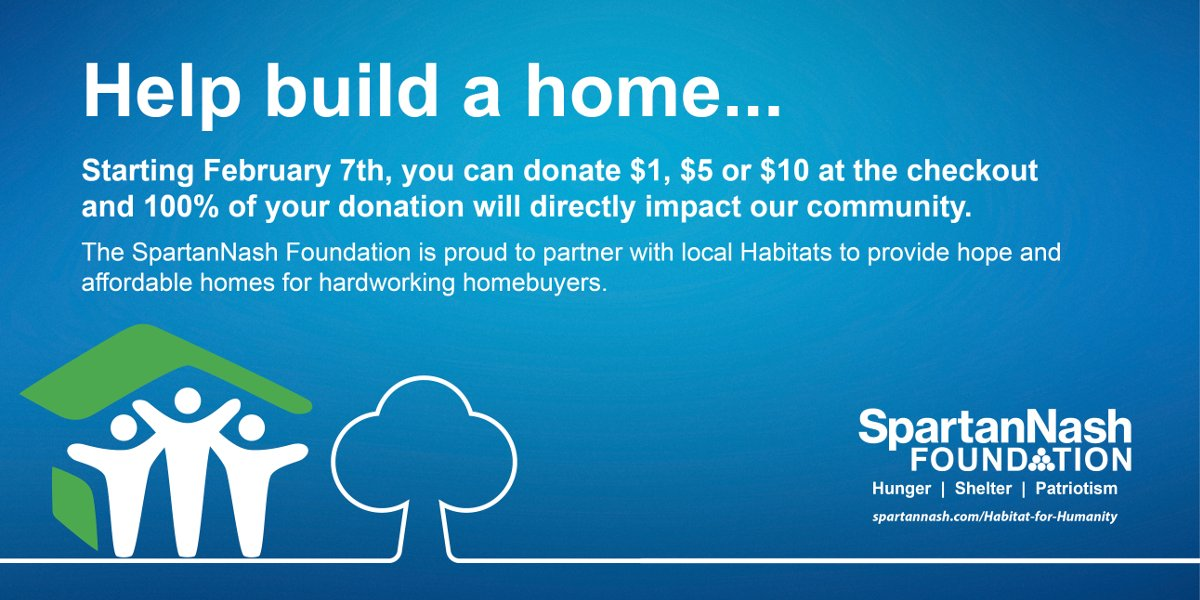 SpartanNash and Habitat for Humanity
