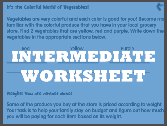 Intermediate worksheet