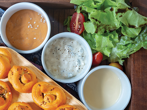 Loaded Ranch Yogurt Dip recipe