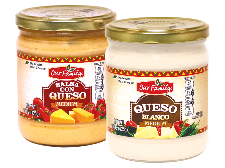 Delicious Our Family brand Queso Dip