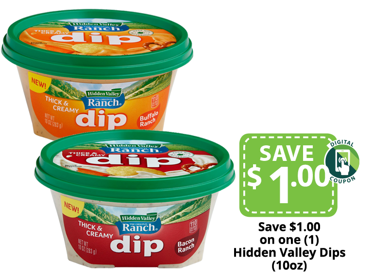 Hidden Valley Ranch Dips packages