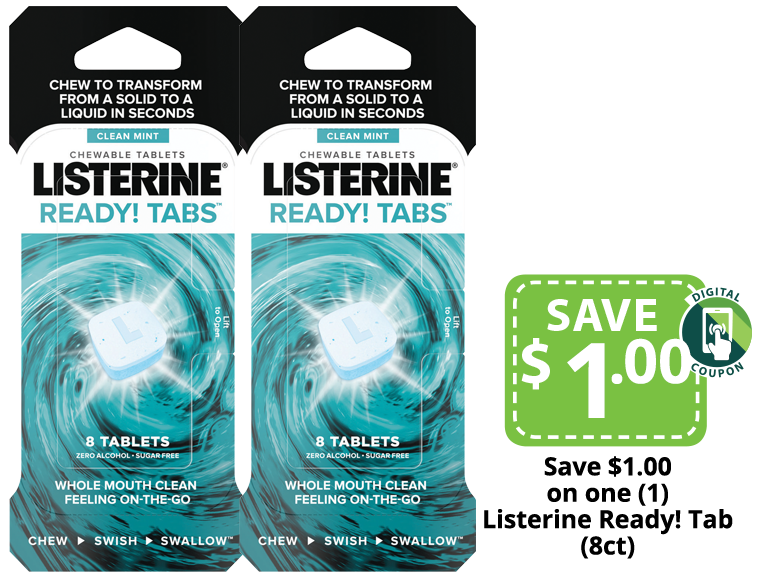 Listerine Ready Tabs Chewable Mouthwash