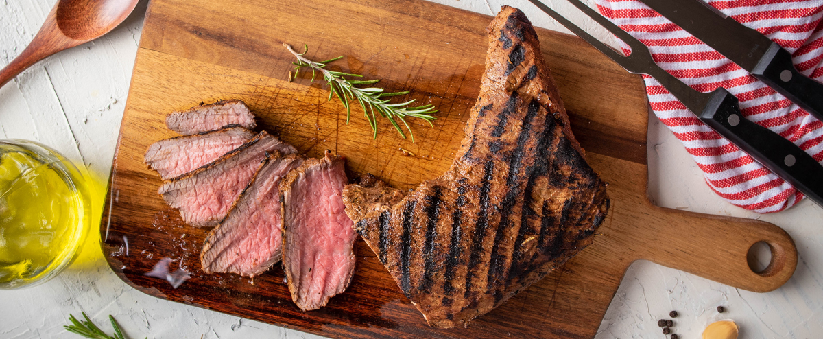 Tri Tip beef gets its name from its triangular shape.