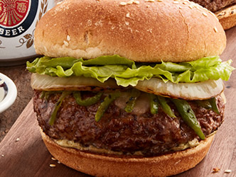 Hatch Chile Cheeseburger
